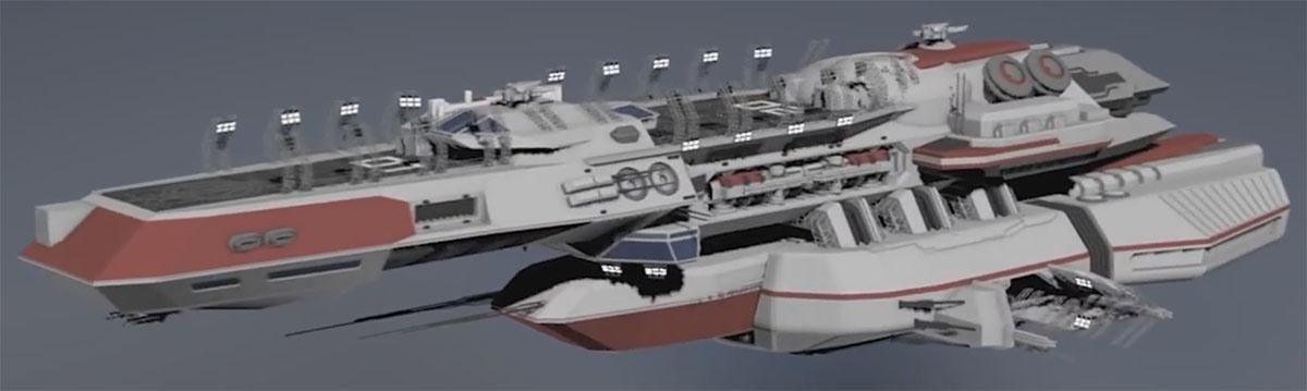 Capital Ship - Hygeia class Repair and Medical Ship - Seitenansicht